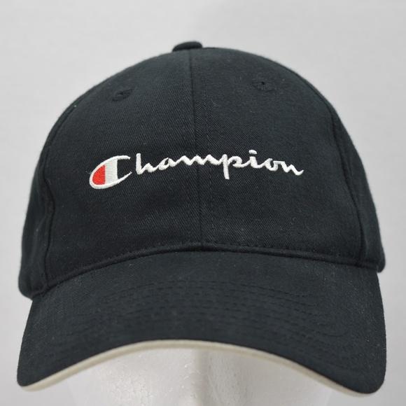 Champion Accessories - Champion Black Golf Baseball Running Tennis Hat a4b337f375d